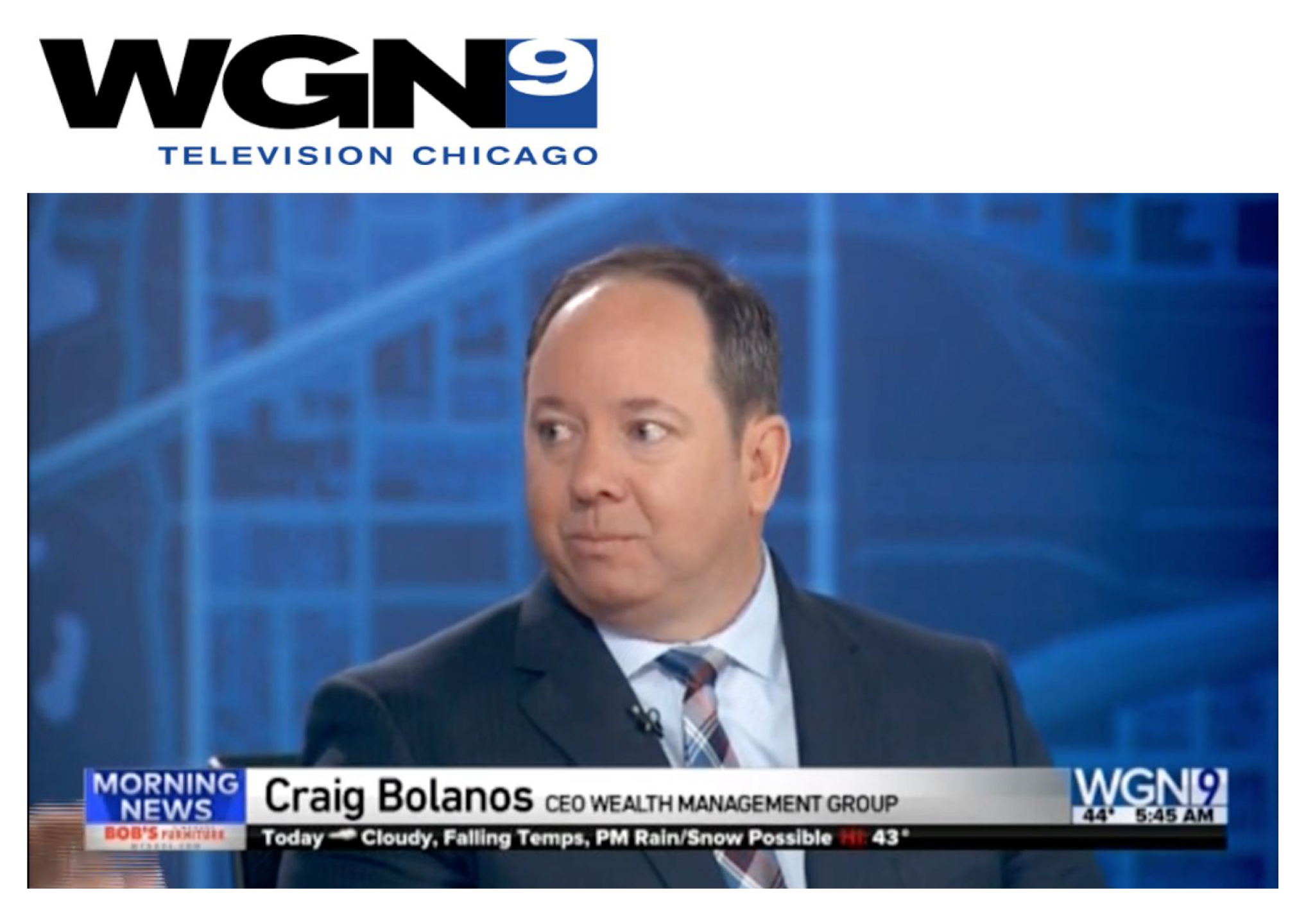 Craig Bolanos on WGN Channel 9 | Riding the Stock Roller Coaster – Dealing with Market Volatility